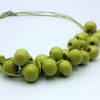 Bead kit for the Cluster necklace - green